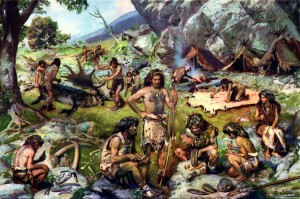 encampment_of_late_palaeolithic_hunters_by_zdenek_burian_1949